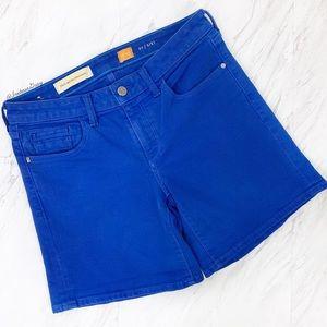 Anthropologie- Pilcro Bright Blue Stet Shorts 27